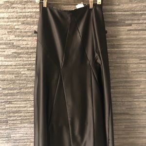 NWOT Tadashi Floor Length Black Skirt